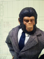 the Office (8 Skeins of Danger) Tags: corporate office tie suit planetoftheapes files ape cornelius paperwork 8skeinsofdanger apefashionbybumbleslamont
