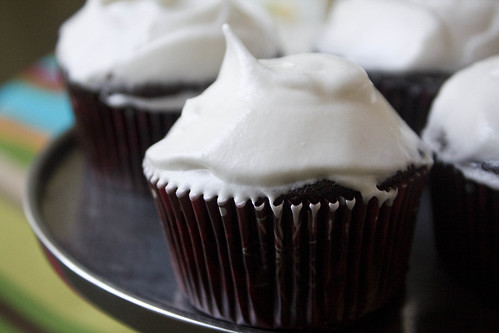 Chocolate Cupcake + frosting