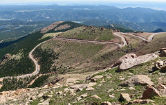 Switchbacks: Pike's Peak Highway, Colorado (CO) (Floyd Muad'Dib) Tags: usa west america geotagged centennial us colorado unitedstates state united unitedstatesofamerica north peak american western co northamerica pikes states pike floyd muaddib pikespeak americanwest westernusa westernus pikespike centennialstate floydmuaddib