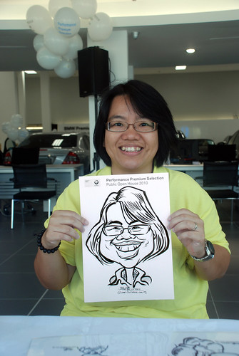 Caricature live sketching for Performance Premium Selection BMW - Day 2 - 1