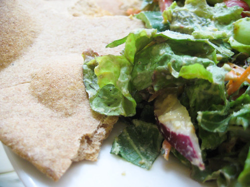Salad with Pita bread