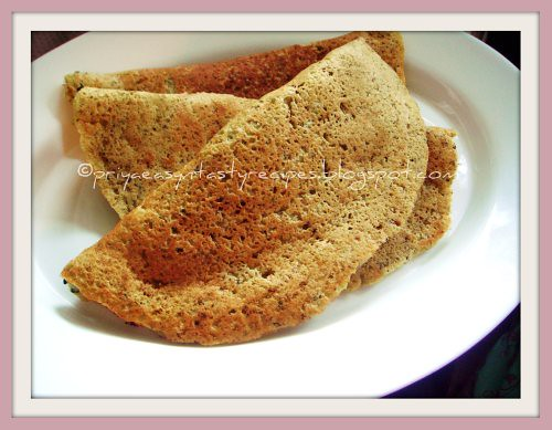 Sprouted moong & drumstick dosa