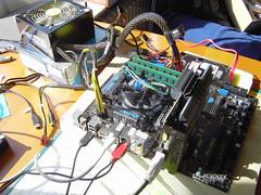 computer testing pcie triscreen corei5 dualgraphics