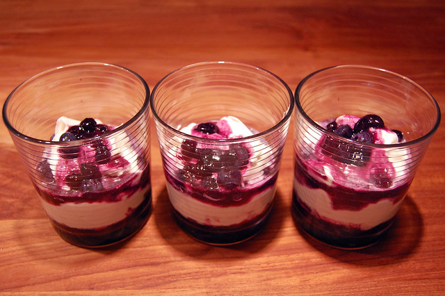 blueberry maple parfaits