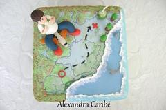 Bolo Mapa- map cake (Alexandra Bolos Artsticos) Tags: cupcakes minibolos