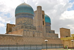 Bibi-Khanym Mosque (**El-Len**) Tags: travel mosque unesco explore dome silkroad calligraphy uzbekistan centralasia samarkand timur reconstruction worldheritage tilework 15thcentury samarqand fav10 timurid bibikhanym