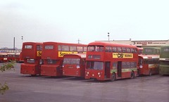 Daimler in decline, Delta Way. (Renown) Tags: buses nbc marshall cannock alexander staffordshire willowbrook coaches daimler fleetline parkroyal mcw dms doubledeckers mercian leylandleopard midlandrednorth chaserider crg6 nationalbusco deltaway