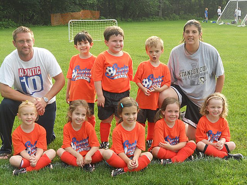 Lauren's U5 Soccer Team.