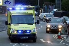 Ambulance (jf01350) Tags: street uk blue light lights mercedes kent blues ambulance commercial flashing emergency a2 medway strood