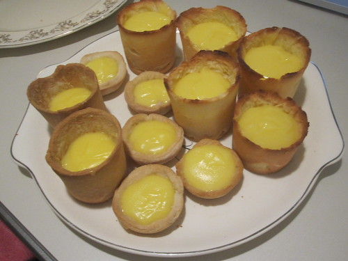 Lemon curd tarts later in the evening