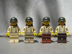 Help! (antha) Tags: seattle brown color infantry dark army us lego legs wwii leg tan standard 2010 brickcon brickarms bricklord