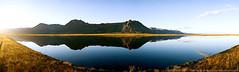 Lake Panorama (Thomas Suurland) Tags: sunset panorama mountain lake reflection iceland 2007 suurland thomassuurland