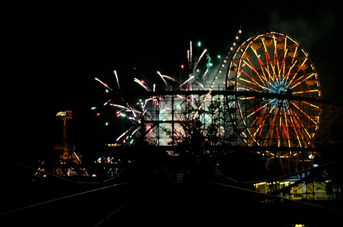 Ferris Wheel and Fireworks 2