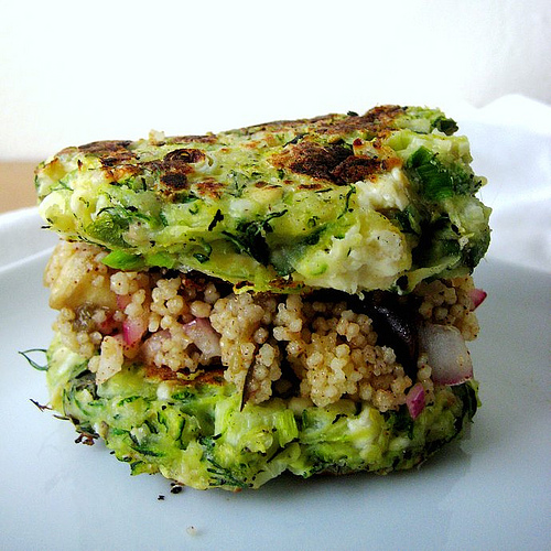 Zucchini Fritters with Feta and Dill @ Eats Well With Others