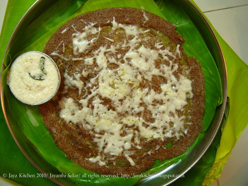 Cheese Ragi Dosa