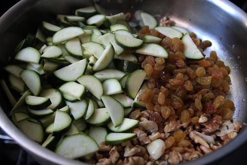 enter zucchini & raisins