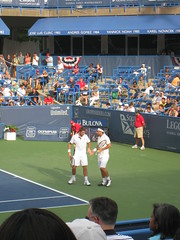 Baghdatis and Wawrinka play doubles at LM-46