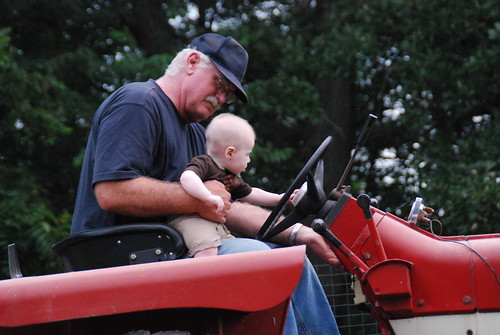 Owen's First Tractor Ride