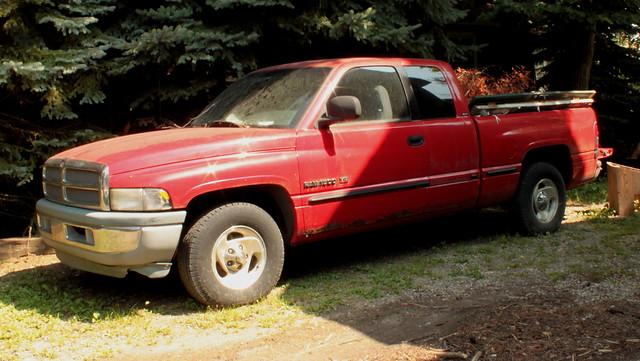 red truck dodge ram