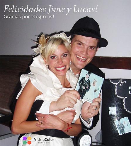 Souvenirs de casamiento: Jime y Lucas
