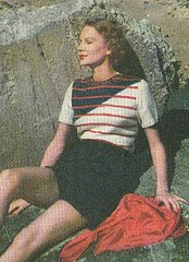 1948 knitted Tri Color sweater (R.O.Holcomb) Tags: color 1948 vintage sweater pattern knitted tri needlecraft