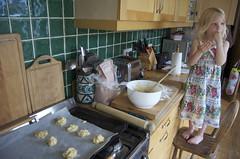 Making white chocolate cookies
