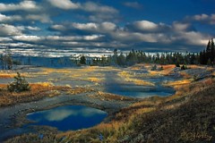 West Thumb Geyser Basin (P. Oglesby) Tags: yellowstonenp westthumbgeyserbasin yellowstonelake autumn geysers hotsprings mountains snow landscapes coth photocontesttnc10 dragondaggerphoto coth5 blueribbonwinner theunforgettablepictures mygearandmepremium mygearandmebronze mygearandmesilver mygearandmegold mygearandmediamond mygearandmeplatinum thehighlander godlovesyou