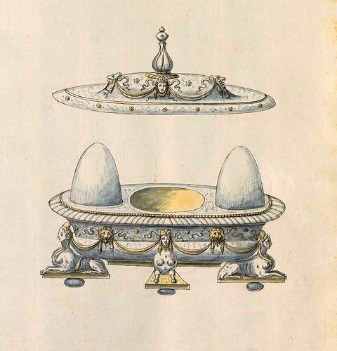 009-Huevera-Entwürfe für Prunkgefäße in Silber mit Gold-BSB Cod.icon.  199 -1560–1565- Erasmus Hornick