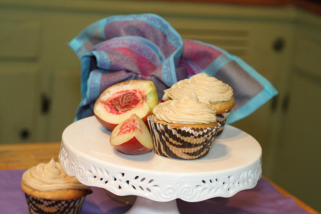 4865166356 00eb83dd1e b d Nectarine Cupcakes with Brown Sugar Frosting