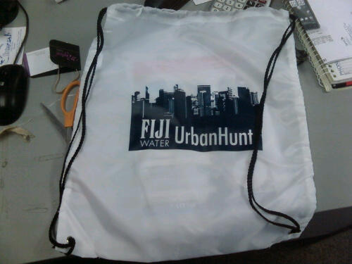 FIJI Water Urban Hunt team backpacks!