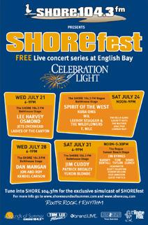 SHOREfest 2010 Lineup