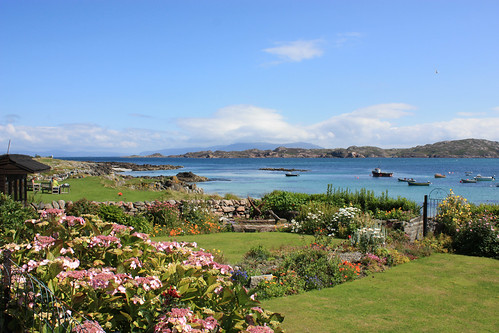 Iona gardens and bay