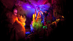Dule Caves III (Michael Steverson) Tags: china tourism canon lights tourist caves chinadigitaltimes grotto 5d multicolored ef guangxi markii liuzhou dule 1740f40l