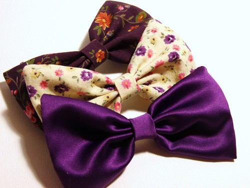 day 218: violet bows