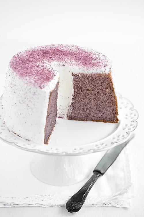 Chiffon cake alla patata dolce viola