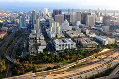 San Diego downtown  (Y. Peter Li Photography) Tags: california skyline san downtown view diego birdeye