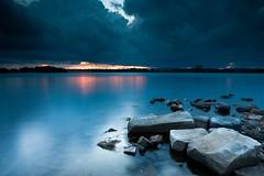 Color Before The Storm (Digital Rebel) Tags: sunset clouds rocks ottawa ottawariver remicrapids