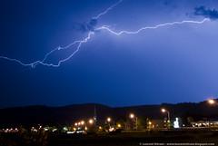 Lightning during a storm (Laurent Silvani) Tags: sky cloud canada storm rain clouds quebec pluie shelf ciel qubec fjord lightning nuage nuages mur saguenay orage violent mto labaie scud eclairs lightnings clairs trombe shelfcloud entonnoir