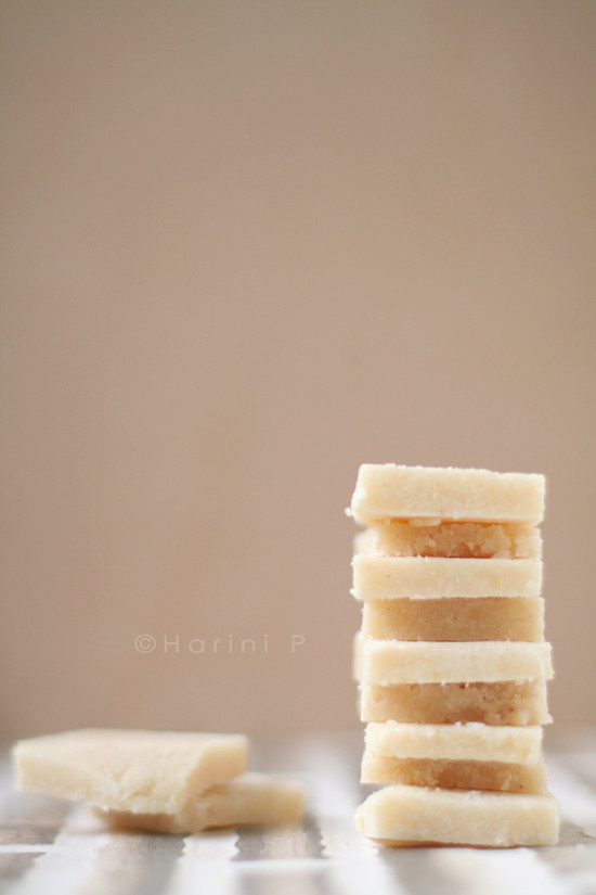 Badam barfi ~ Almond Barfi