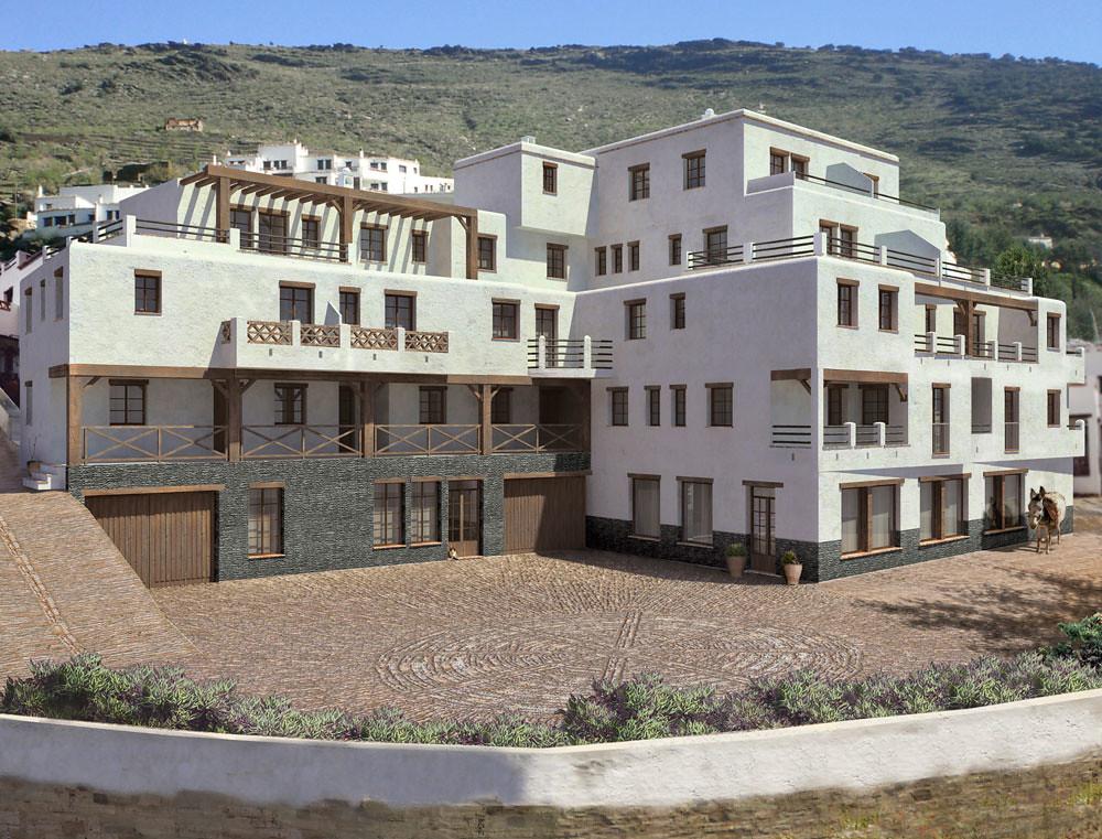 Exterior 3D - Edificio rural