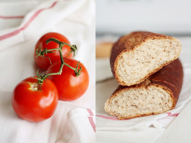 Tomato Bread Ingredients for Panzanella Salad