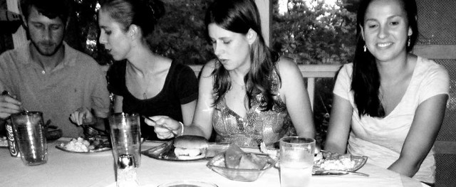 P1030300-2010-08-08-Burger-Watermelon-Dinner-Guests-Blur-DK-KK-Nina-Jamie-BW