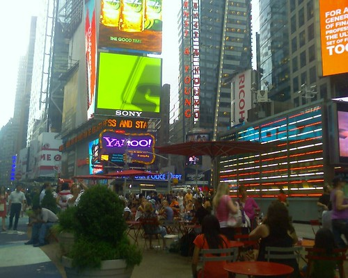 afternoon scene in times square.