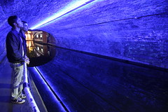 warp hole (maybemaq) Tags: uk blue friends england urban man reflection london boys water night river lights canal britain geometry camden tunnel regentscanal blueprint scifi reflexions timetunnel camdentown timemachine waterreflection camdenlock teleportation drmike warphole maybemaq