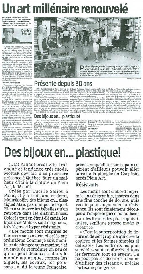 Journal de Québec - 8 août 2010