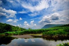 [フリー画像] 自然・風景, 草原, 湖・池, 空, アメリカ合衆国, 201008140700