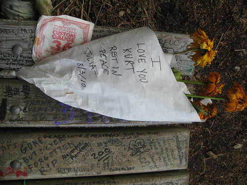 Flowers for Kurt.