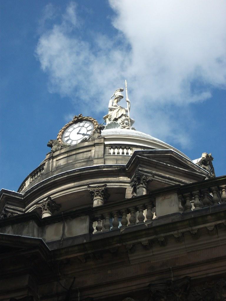 Detail of Britannia sculpture - Liverpool Town Hall, Liverpool