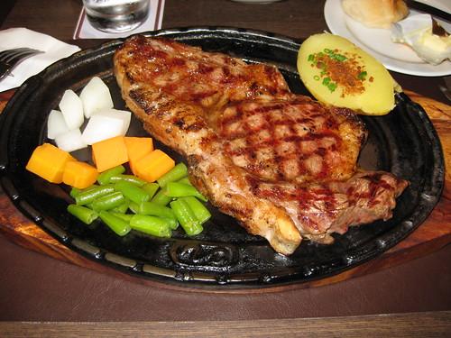 T-bone steak 500g in chokchai steak house