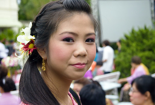 Girl at the Baba Wedding ceremony in Phuket
